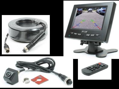 "Complete camera set met 5"" TFT LCD kleurenmonitor + ""Drill in"" camera met 160-graden Peripheral View"