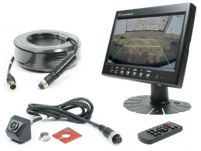 "Complete camera set met 7"" TFT LCD kleurenmonitor + ""Drill in"" camera met 160-graden Peripheral View"