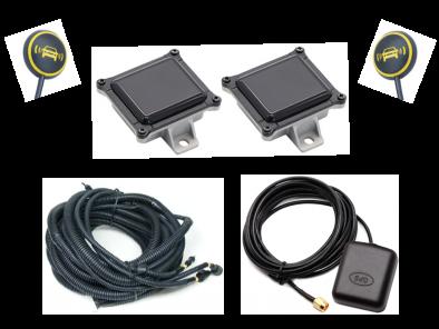 Blind Spot Assist met A-stijl LEDwaarschuwingspictogram + geluid + GPS