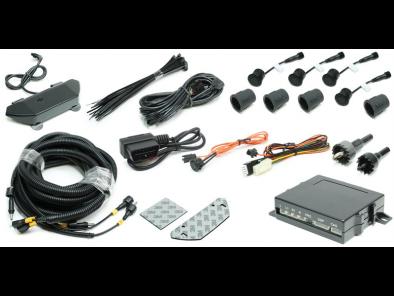 FrontZone™ parkeersensoren - 4 sensoren + geluid + LED + OBDII