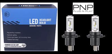 LED dim- + grootlicht - 6000K - H4 dual met E-keur